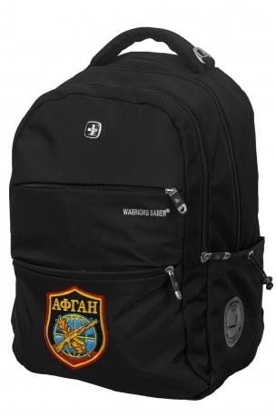 Черный повседневный рюкзак с нашивкой АФГАН - заказать с доставкой
