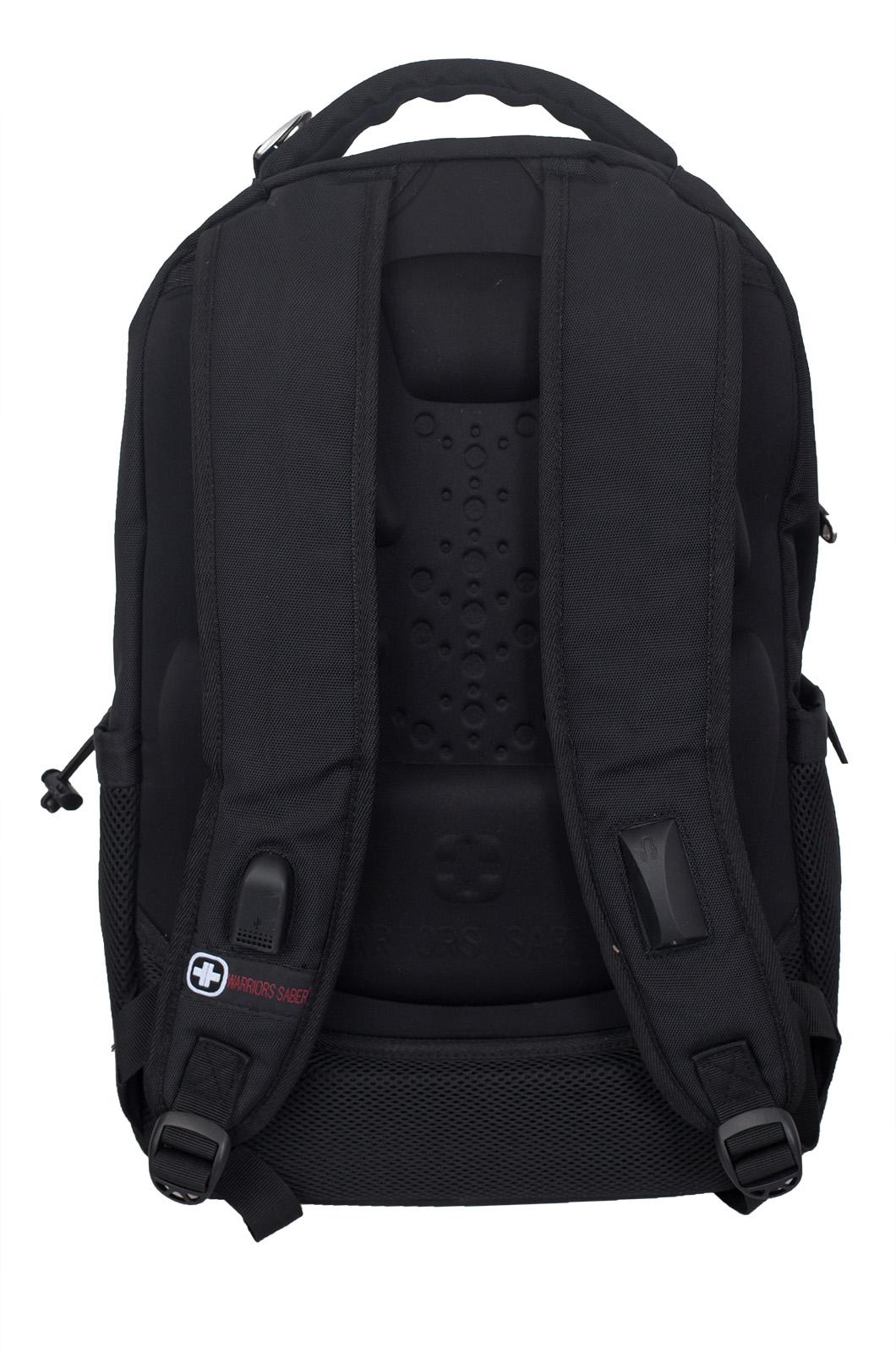 Купить черный повседневный рюкзак с нашивкой Погранслужбы с доставкой