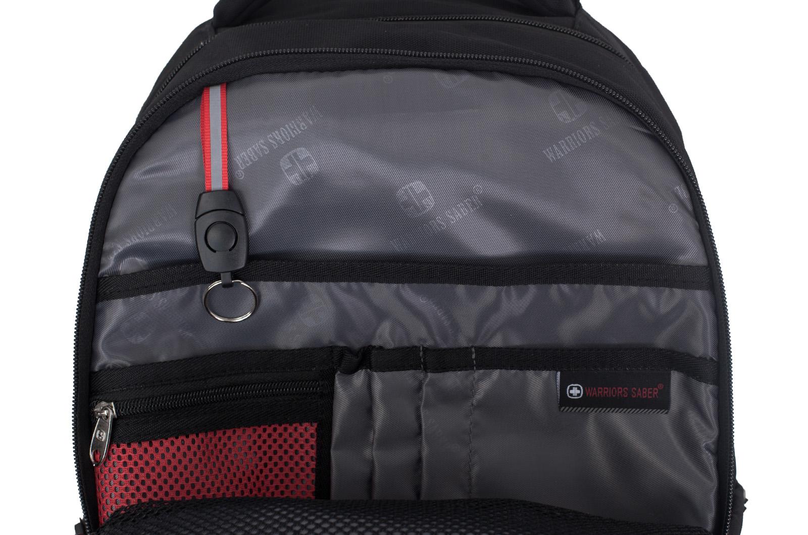 Черный повседневный рюкзак с нашивкой Погранслужбы - купить оптом