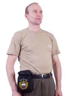 Черный поясной подсумок для фляги с нашивкой ФСО - купить с доставкой