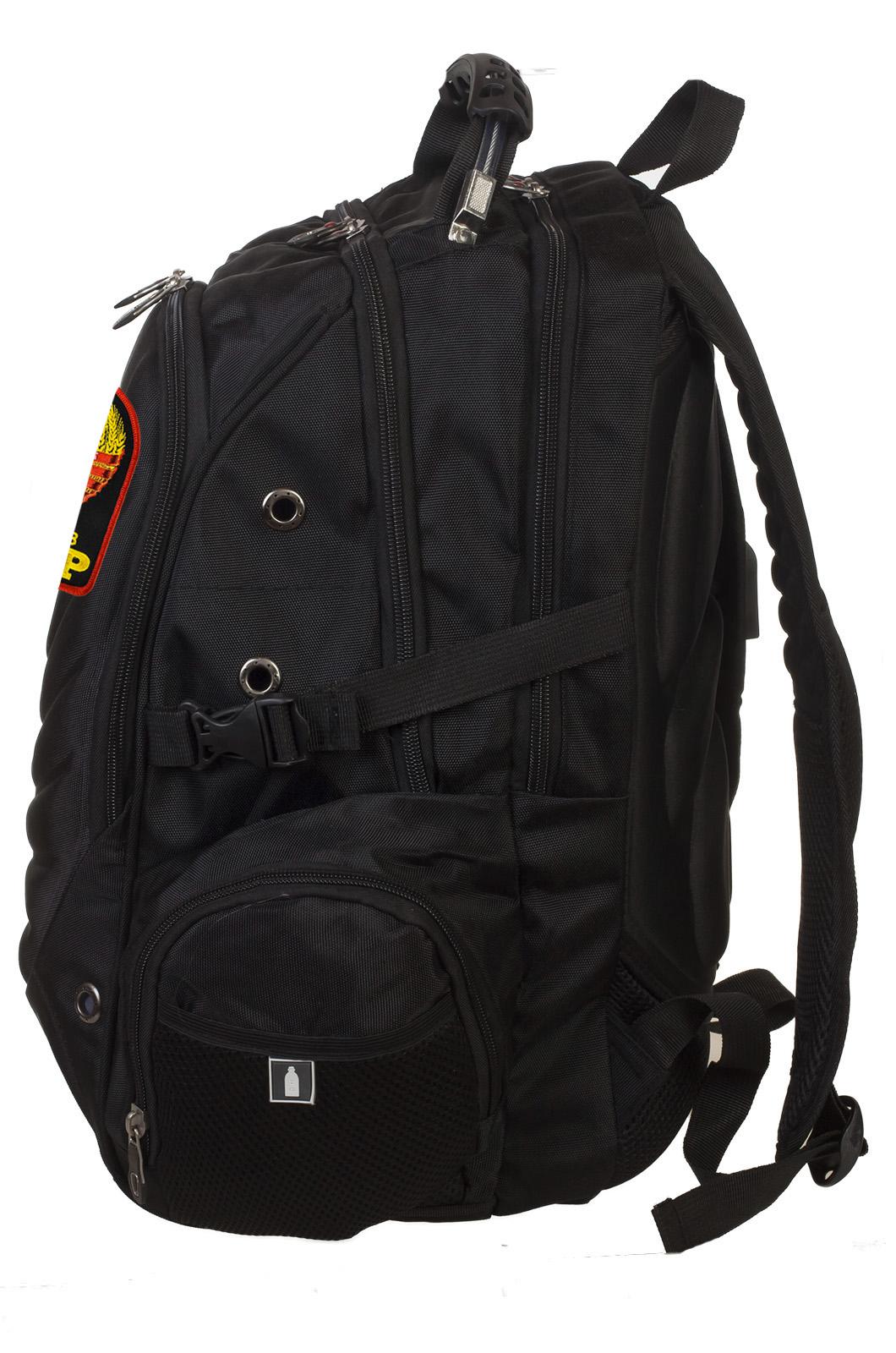 Черный практичный рюкзак с нашивкой Рожден в СССР купить в подарок
