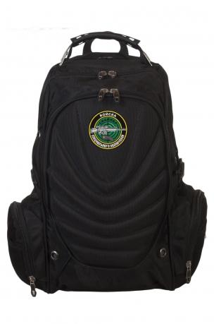 Черный практичный рюкзак с нашивкой Снайпер