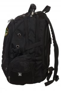 Черный практичный рюкзак с нашивкой Снайпер - заказать оптом