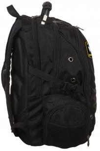 Черный практичный рюкзак с нашивкой ВМФ России - купить по низкой цене