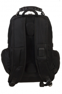 Черный практичный рюкзак с нашивкой ВМФ России - купить в розницу