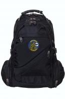 Черный практичный рюкзак с нашивкой Войсковой разведки