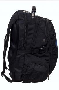 Черный практичный рюкзак с нашивкой Войсковой разведки купить с доставкой