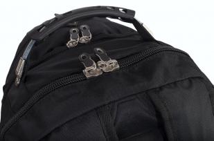 Черный практичный рюкзак с нашивкой Войсковой разведки купить в розницу