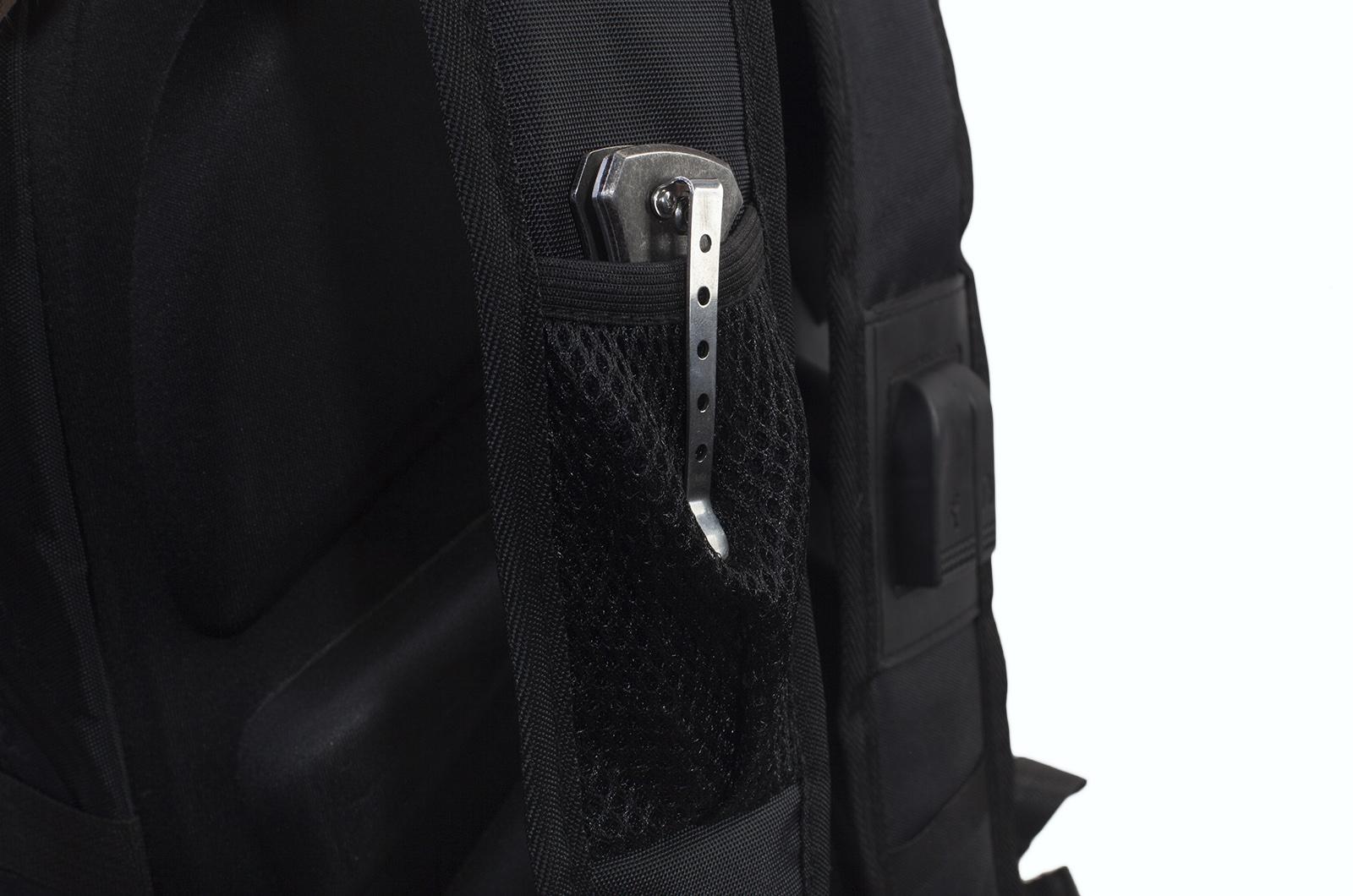 Черный практичный рюкзак с нашивкой Войсковой разведки купить в подарок