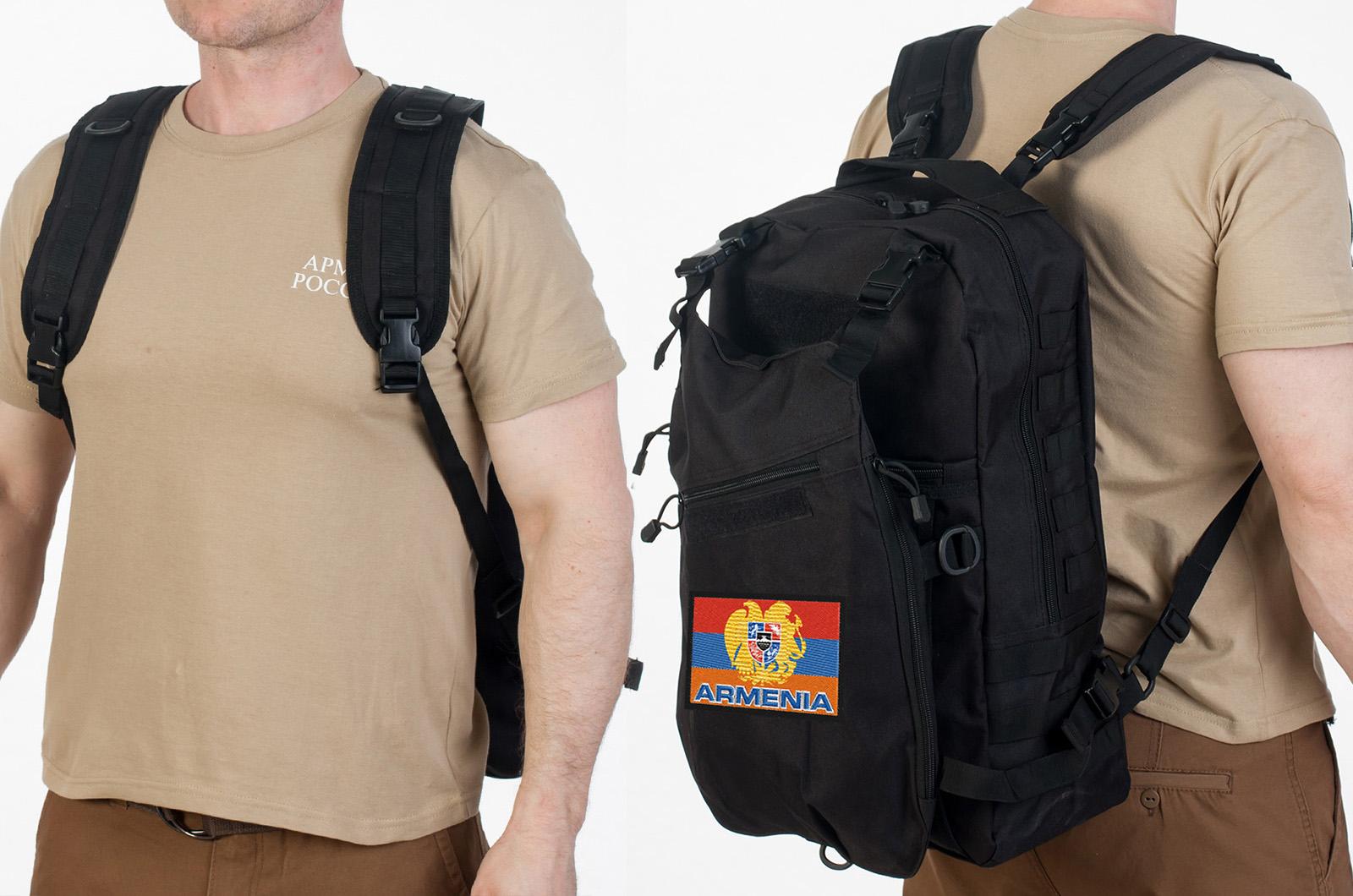 Чёрный рейдовый рюкзак Армения