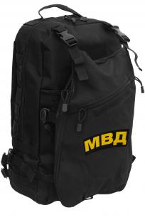 Черный рейдовый рюкзак с нашивкой МВД - заказать в розницу