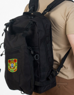 Черный рейдовый рюкзак с нашивкой Пограничной службы