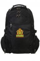 Черный рюкзак с нашивкой Погранвойска.