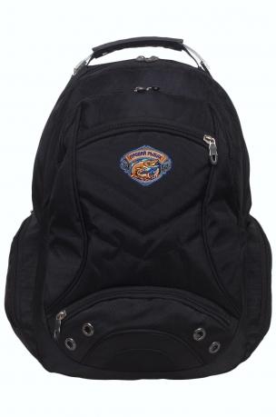 Черный рюкзак с нашивкой лучшего рыбака