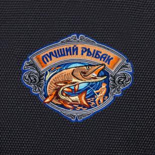 Черный рюкзак с нашивкой лучшего рыбака купить выгодно