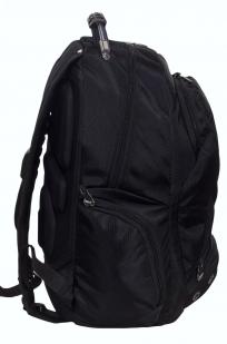 Заказать черный рюкзак с шевроном Морской пехоты