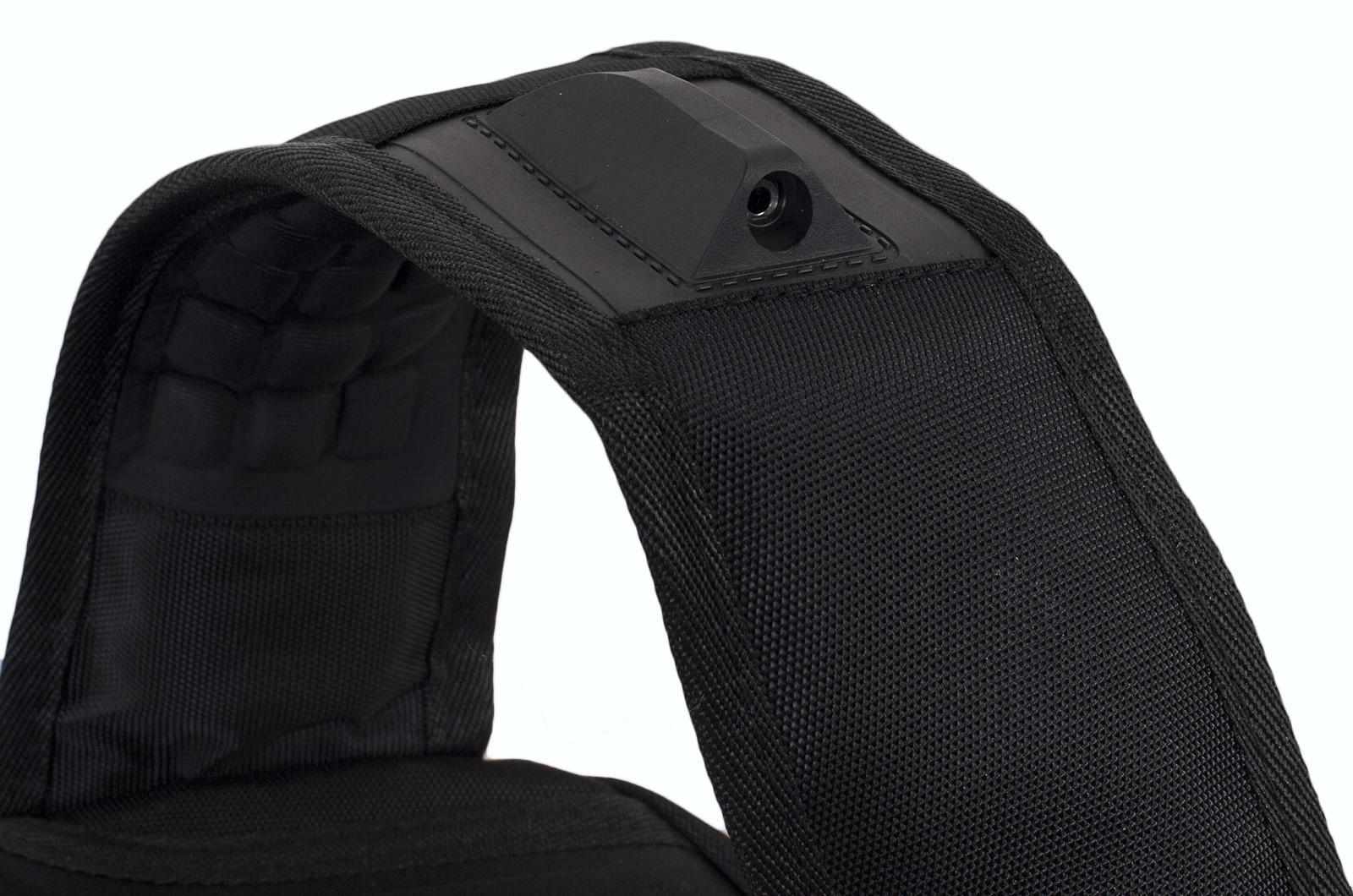 Черный рюкзак с шевроном Морской пехоты купить в подарок