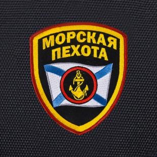 Черный рюкзак с шевроном Морской пехоты купить в розницу