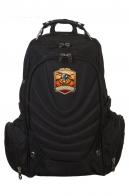 Черный рюкзак с символичным шевроном Русская охота
