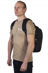 Заказать черный рюкзак с символичным шевроном Торез Оплот Спецназ
