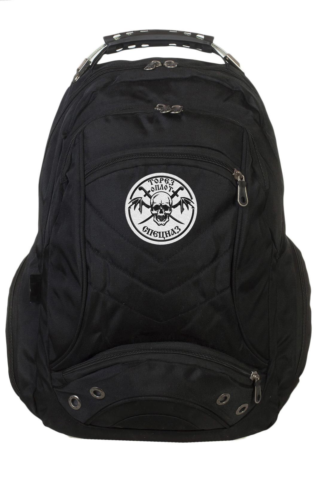 Черный рюкзак с символичным шевроном Торез Оплот Спецназ