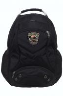 Черный рюкзак с тематической нашивкой  Охотничий спецназ