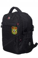 Черный рюкзак с военной нашивкой Пограничной службы - купить онлайн