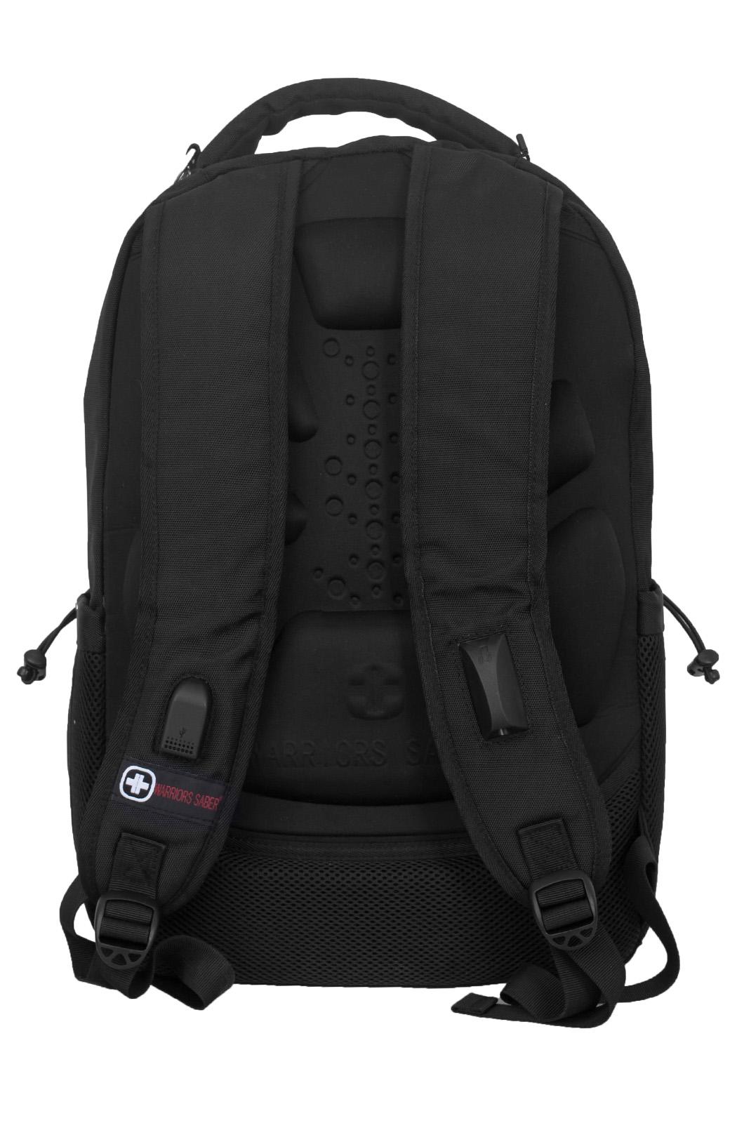 Купить черный рюкзак с военной нашивкой Пограничной службы самовывозом или с доставкой