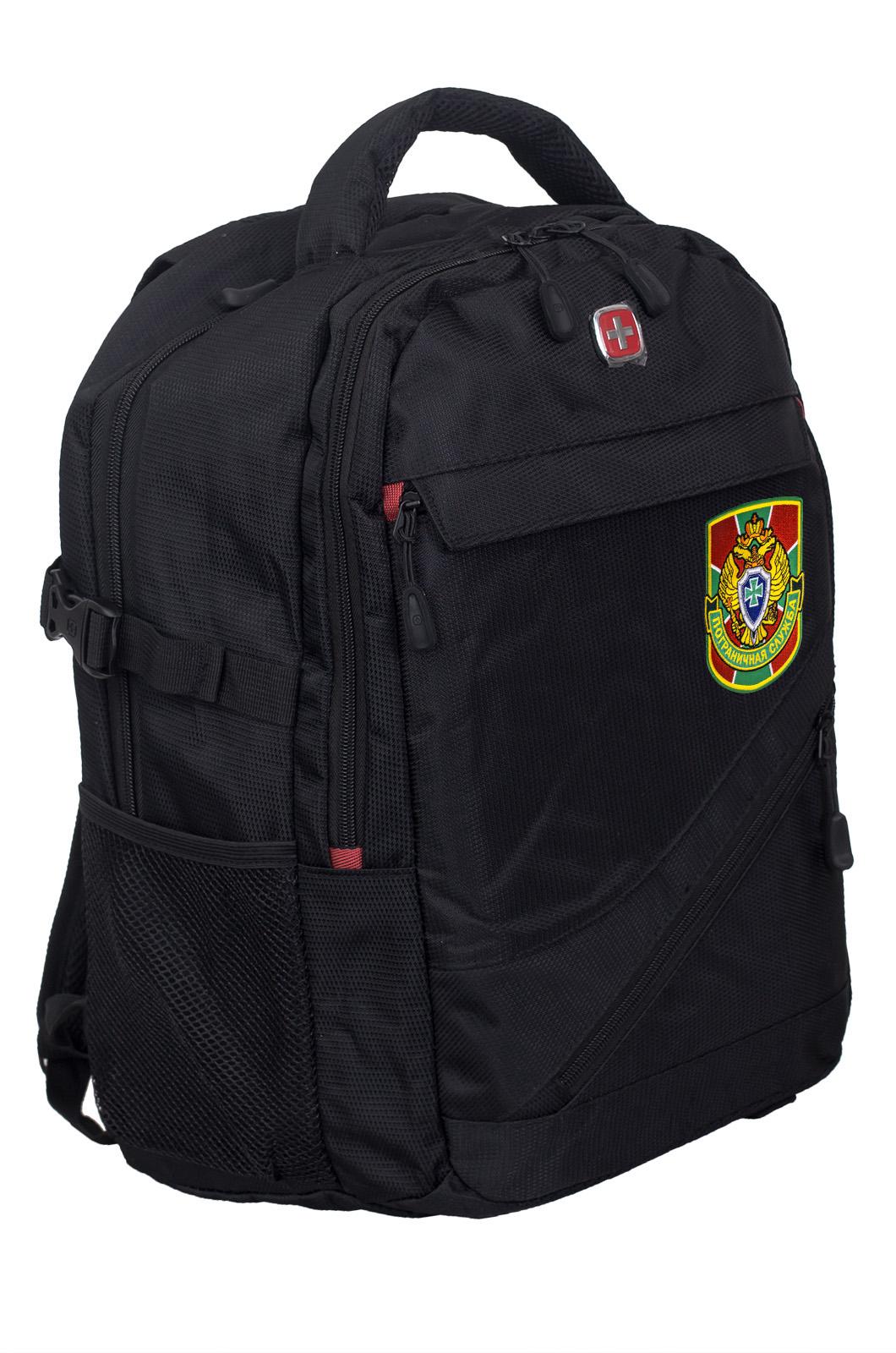 Черный рюкзак с военной нашивкой Пограничной службы - купить в подарок