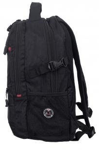 Черный рюкзак с военной нашивкой Пограничной службы - купить оптом