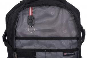 Черный рюкзак с военной нашивкой Пограничной службы - купить в розницу