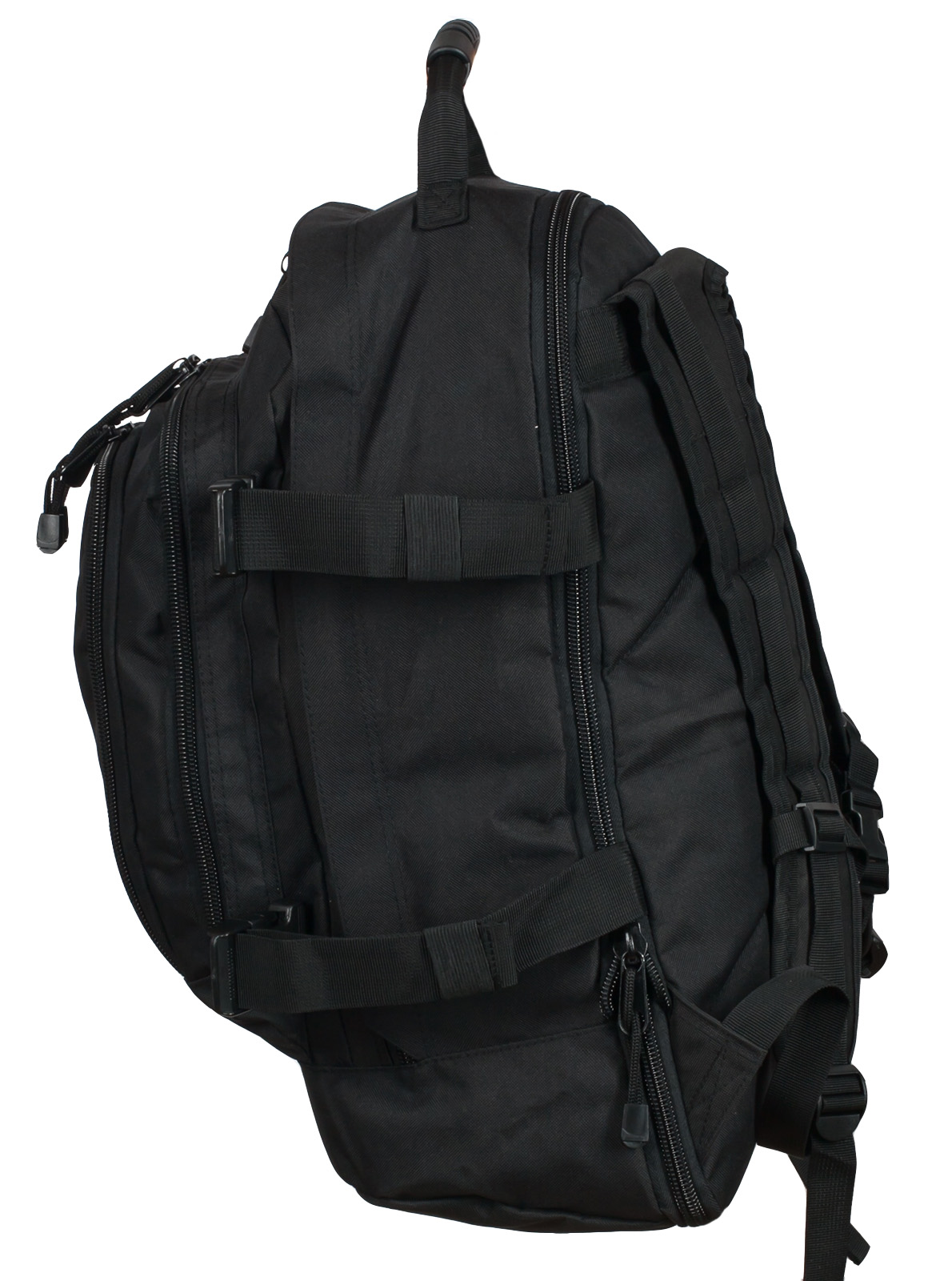 Черный рюкзак универсального назначения 3-Day Expandable Backpack 08002B Black с эмблемой МВД оптом в Военпро
