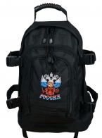 """Черный рюкзак универсального назначения 3-Day Expandable Backpack 08002B Black с эмблемой """"Россия"""""""