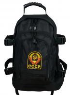 Черный рюкзак универсального назначения 3-Day Expandable Backpack 08002B Black с эмблемой СССР