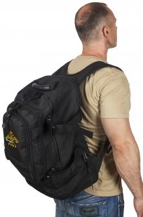 Черный рюкзак универсального назначения с нашивкой РХБЗ купить выгодно