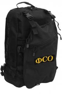Черный штурмовой рюкзак с нашивкой ФСО - купить с доставкой