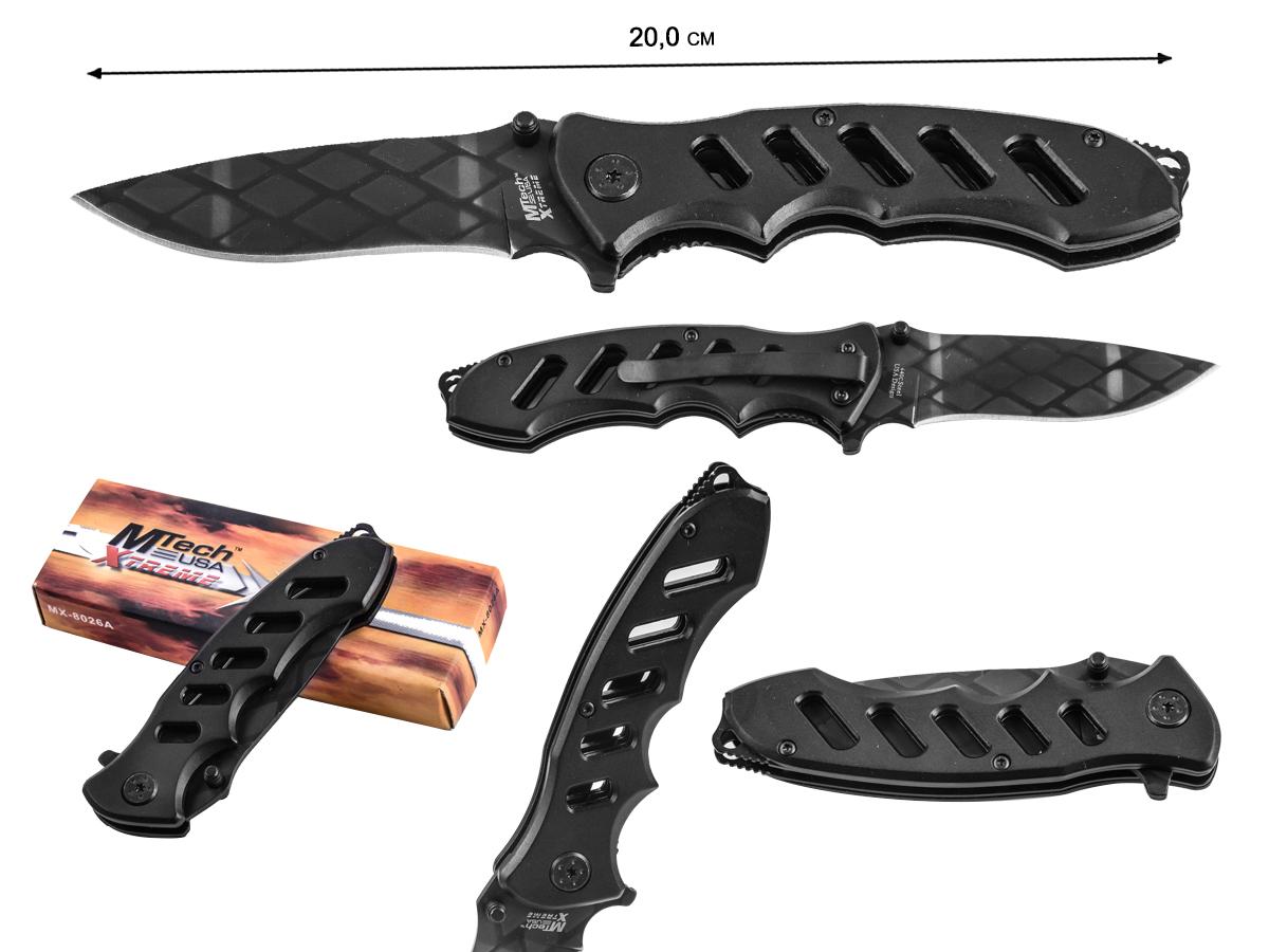 Черный складной нож MTech MX-8027A Xtreme Premium