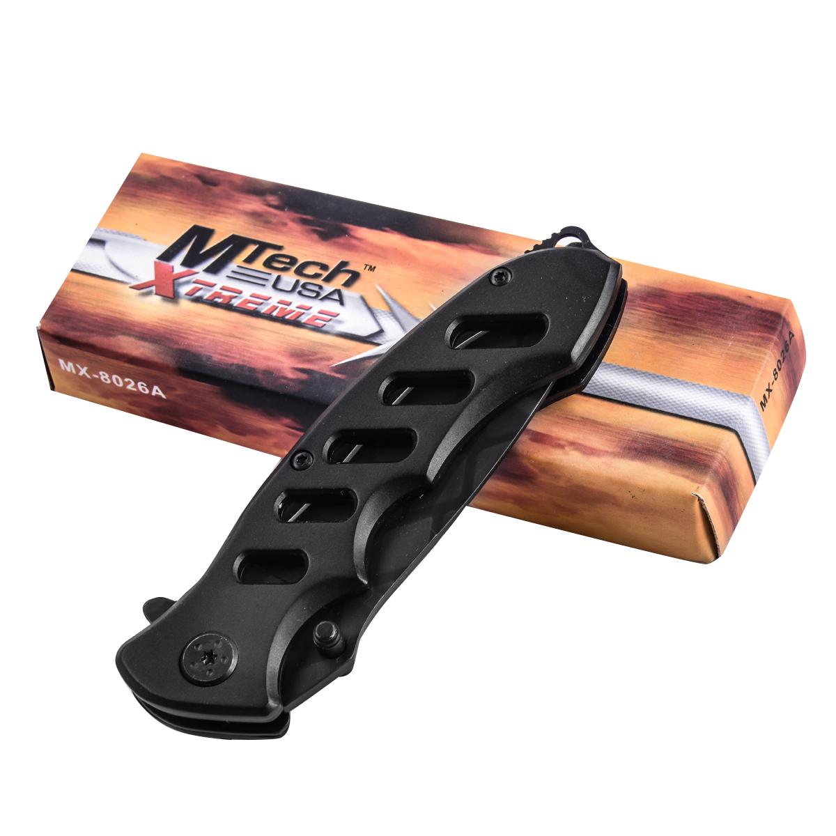 Черный складной нож MTech MX-8027A Xtreme Premium с доставкой