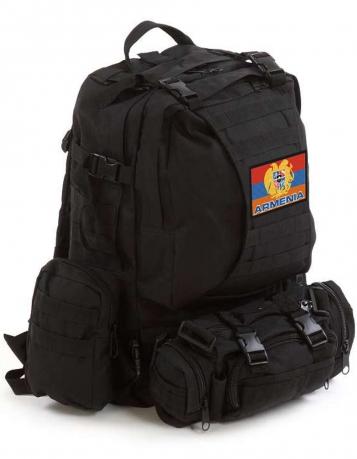 Чёрный тактический рюкзак Армения