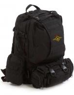 Черный тактический рюкзак с эмблемой МВД России