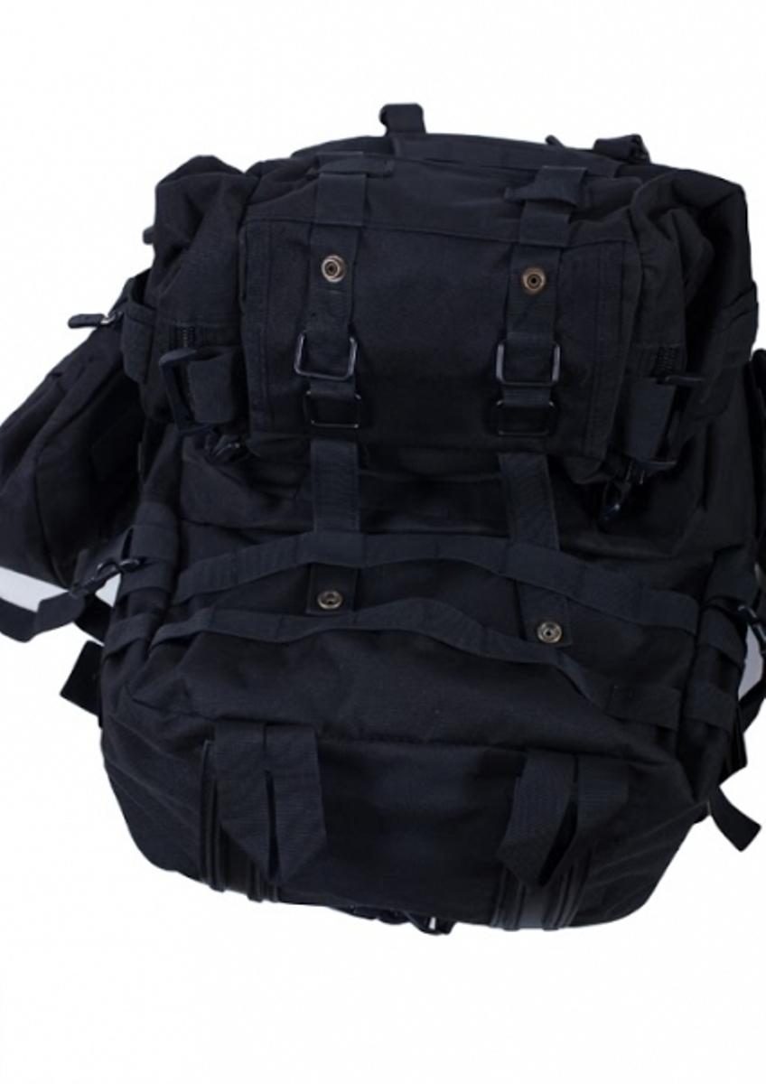 Заказать черный тактический рюкзак с нашивкой Охотничьи войска
