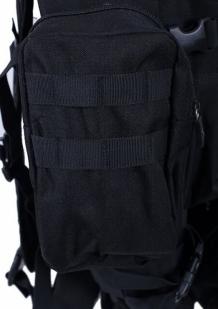 Черный тактический рюкзак с нашивкой Охотничьи войска купить оптом