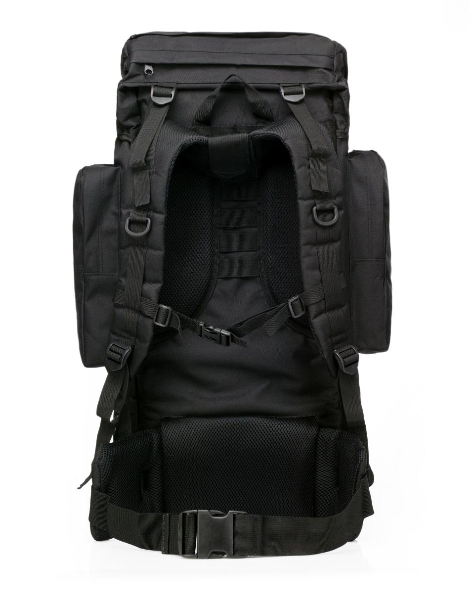 Черный тактический рюкзак с нашивкой Погранслужбы - купить с доставкой