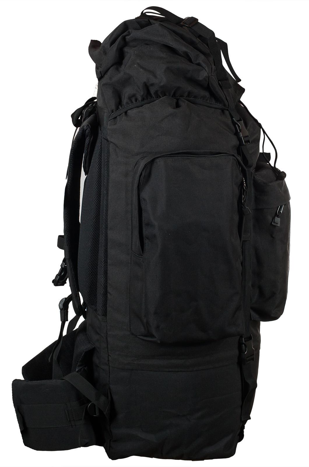 Черный тактический рюкзак с нашивкой Погранслужбы - купить в розницу