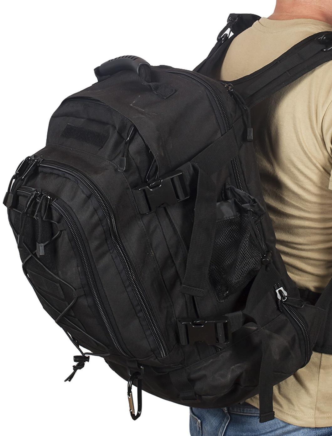 Черный тактический рюкзак с отделением для гидратора 3-Day Expandable Backpack Black