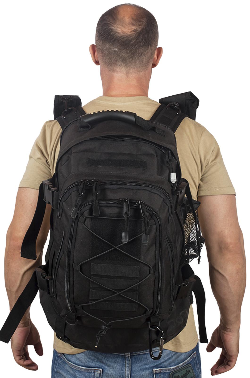 Купить черный тактический рюкзак с отделением для гидратора 3-Day Expandable Backpack Black