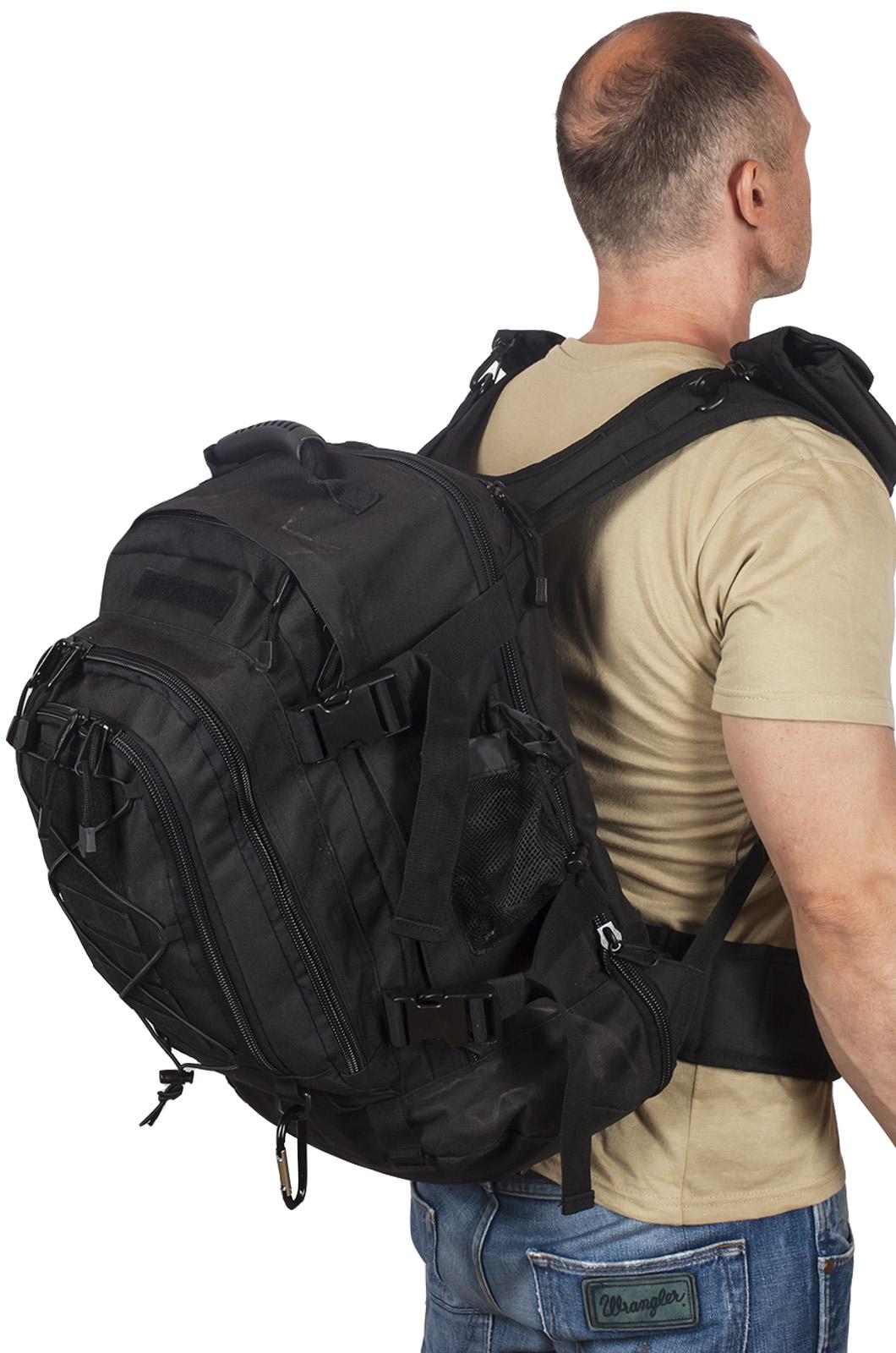 Черный тактический рюкзак с отделением для гидратора 3-Day Expandable Backpack Black высокого качества