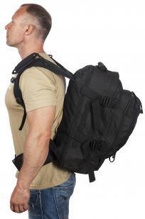 Заказать черный тактический рюкзак с отделением для гидратора 3-Day Expandable Backpack Black
