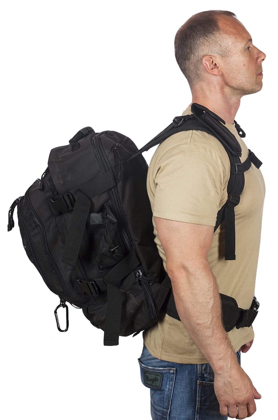 Черный тактический рюкзак с отделением для гидратора 3-Day Expandable Backpack Black с доставкой