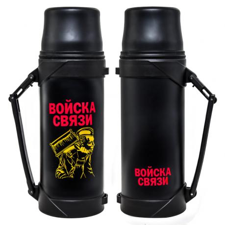 """Черный термос """"Войска связи"""""""
